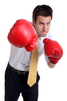 man boxing gloves suit